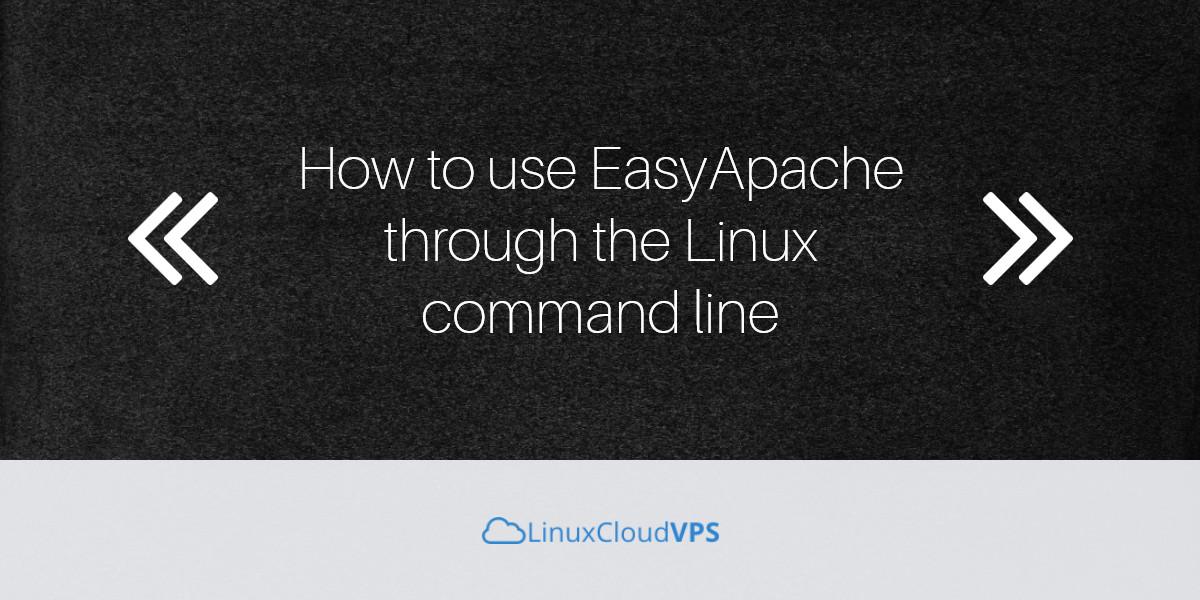 easyapache linux command line