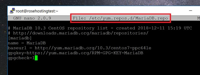 Create the Yum Repository File