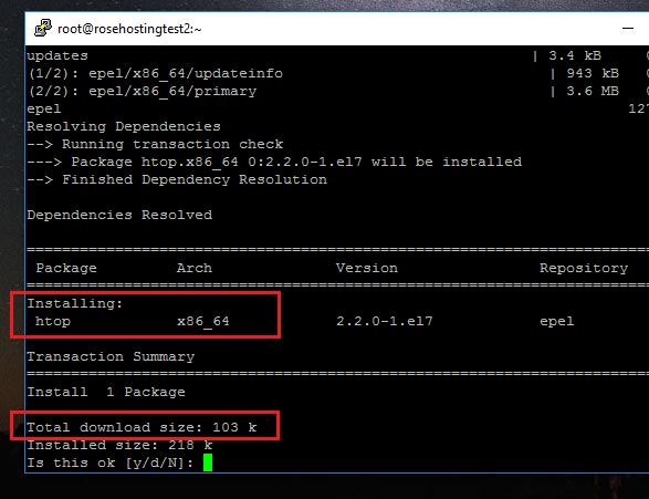 Installing HTOP on Linux