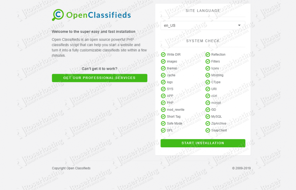 install open classifieds on debian 9